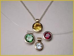 NEU! 585 Rosé-Gold, Silber, Topas, Citrin