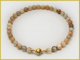 Mondsteinkette, 585 Gelbgold
