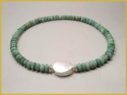 Smaragdkette, 925 Silber, Wechselschließe