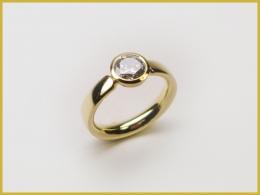 585 Gelbgold, brauner Brillant