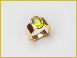 750 Gelbgold, Peridot