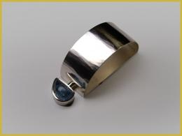Serviettenring, 925 Silber, Aquamarin