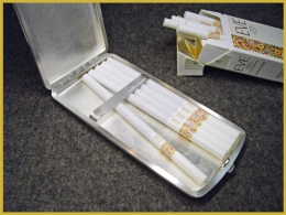 Zigarettenetui (geöffnet), 925 Silber