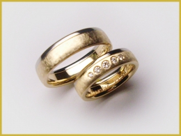 585 Gelbgold-Weißgold, Brillanten