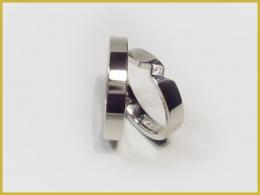 585 Weißgold, Diamant, Prinzess